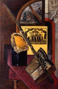 И. Рыбак. Натюрморт, с еврейскими предметами. 1922-1923гг.
