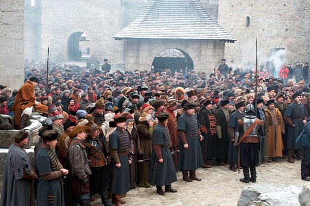 Рабочий момент съемок. Хотинская крепость. Февраль 2007 года