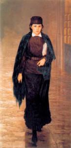 Н. А. Ярошенко. Курсистка. Холст, масло. 1880