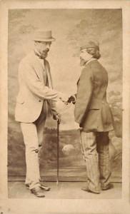 Михаил Грейм (справа) здоровается с Фортунатом Кутиловским