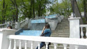 Городской парк. Каскад