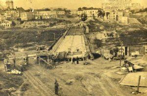 Каменец-Подольский. Восстановление Новоплановского моста.1948 год