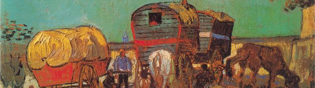 Винсент Ван Гог. Лагерь цыган с караванами/ Холст, масло. 1888 год