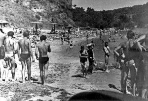 Городской пляж. 60-е годы прошлого века