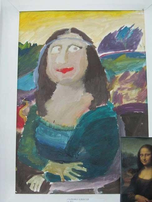 Загадочная Мона Лиза. Автору А. Галенко 8 лет