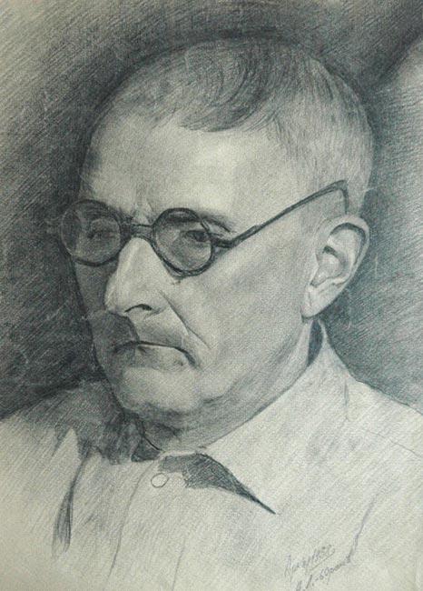 А. Данилюк. Портрет А. Л. Грена. Бумага, карандаш. 1958