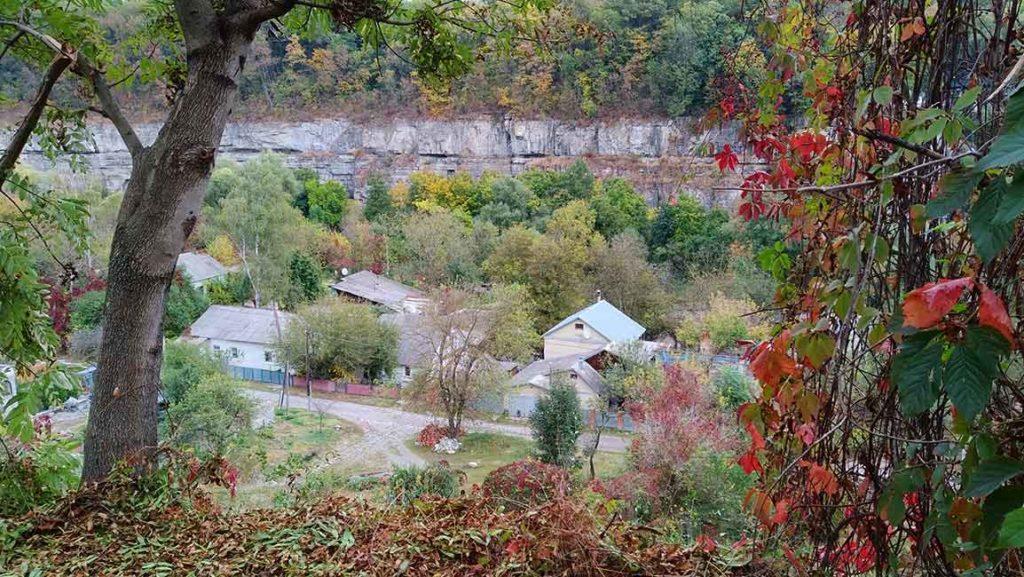 Каменец-Подольский. Долина каньона р. Смотрич. Улица Руська(фрагмент)