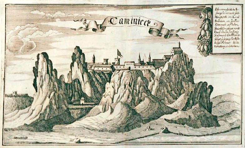 Каменец. Графика, медерит. 1687 год
