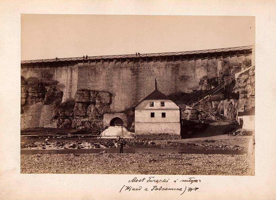 Водопад на фотографии конца XIX, начала XX вв. Рядом мельница